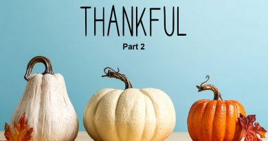Time to Give Thanks, Continued…